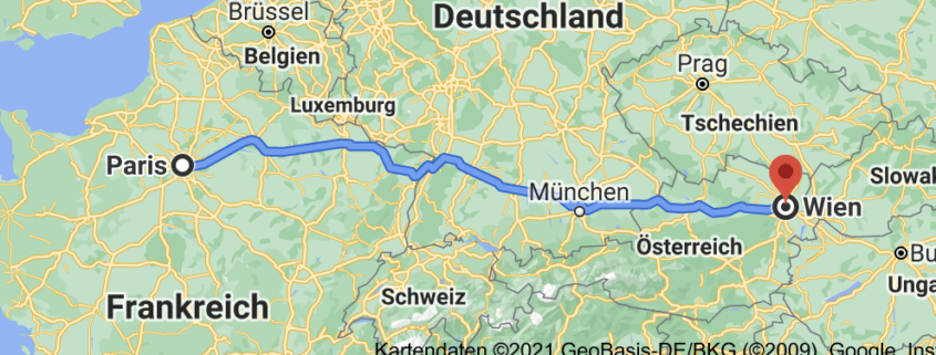 Route Paris Wien